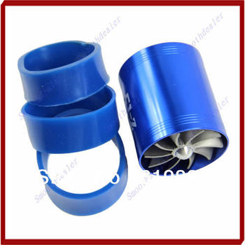 A31 Hot Sale Blue F1-Z Double Supercharger Fuel Gas Saver Fan Universal Turbine Turb Air Intake