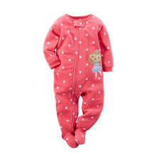 New Arrival Little Baby Girls Footie Pajamas Carters Original Fleece Playwear Ropa bebe Winter 1piece Pja Carters Coverall(China (Mainland))