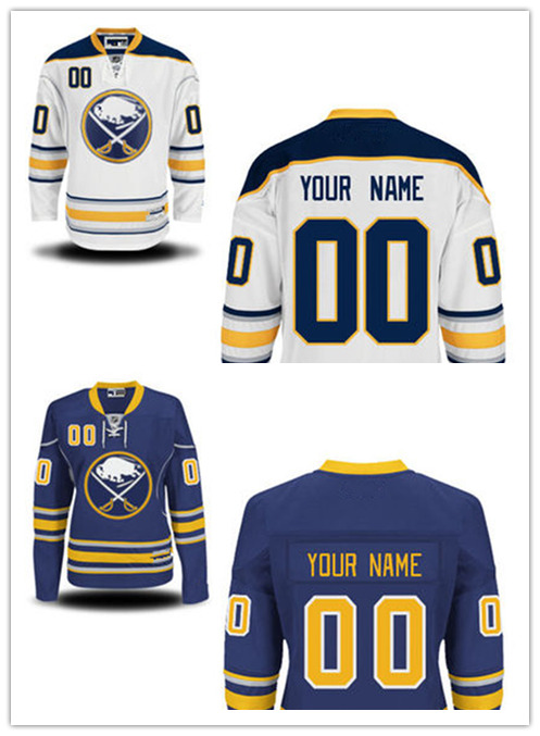 Men's cheap Ice Hockey Customized Home Blue Buffalo Sabres Jerseys Road white Sabres Personalized Jerseys