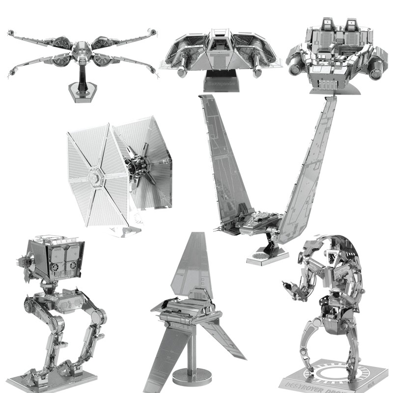 2016 Toys For Children 3D DIY Star Wars Puzzle Metal Model Kids Educational Toys KYLO REN'S COMMAND SHUTTLE 3d Metal Puzzle(China (Mainland))