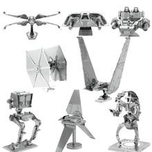2016 spielzeug Für Kinder 3D DIY Star Wars Puzzle Metall modell Kinder Lernspielzeug KYLO REN'S BEFEHL SHUTTLE 3d Metall Puzzle(China (Mainland))