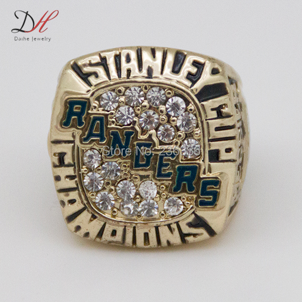 AD0008 Defective Super Hot gold plating Cast men Rings 1984 Rangers Stanley Cup Championship ring - Hand Make My Day store