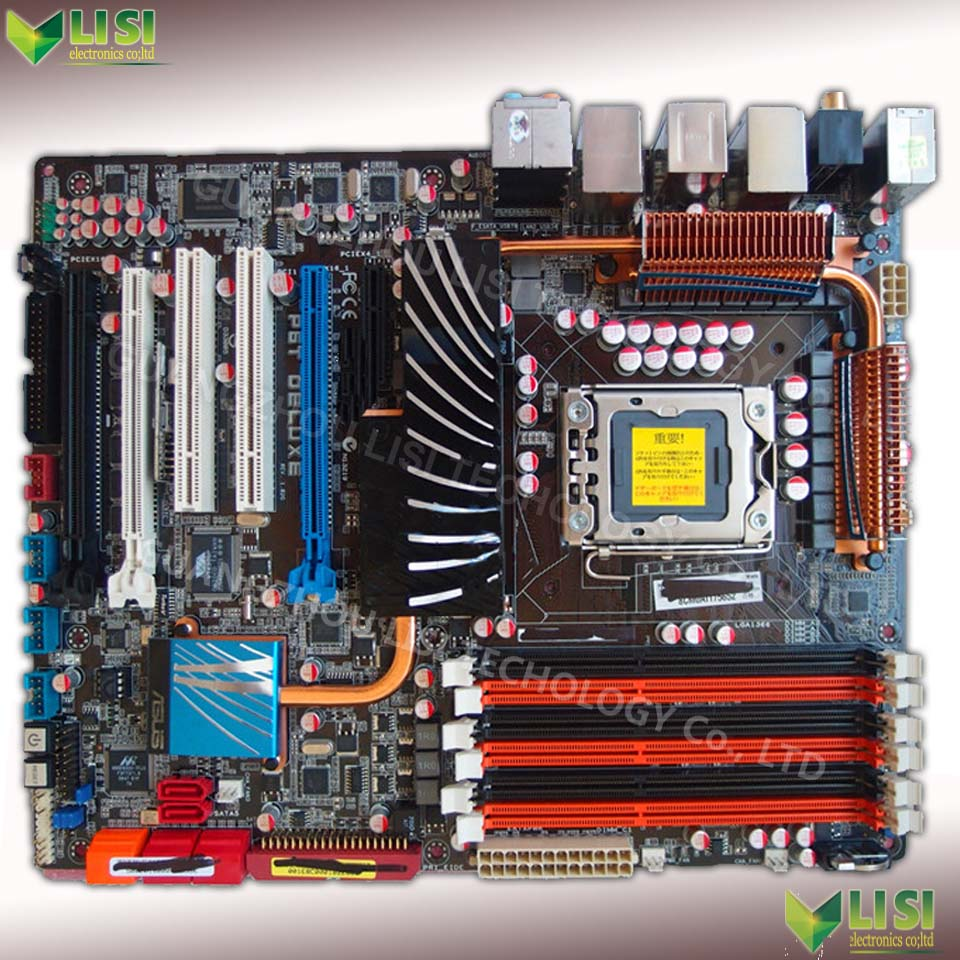 Free Shipping 90% new for ASUS P6T Deluxe X58 Desktop motherborad Socket 1366 DDR3 24G USB2.0 SATA2 ATX for Core i7 on sale<br><br>Aliexpress