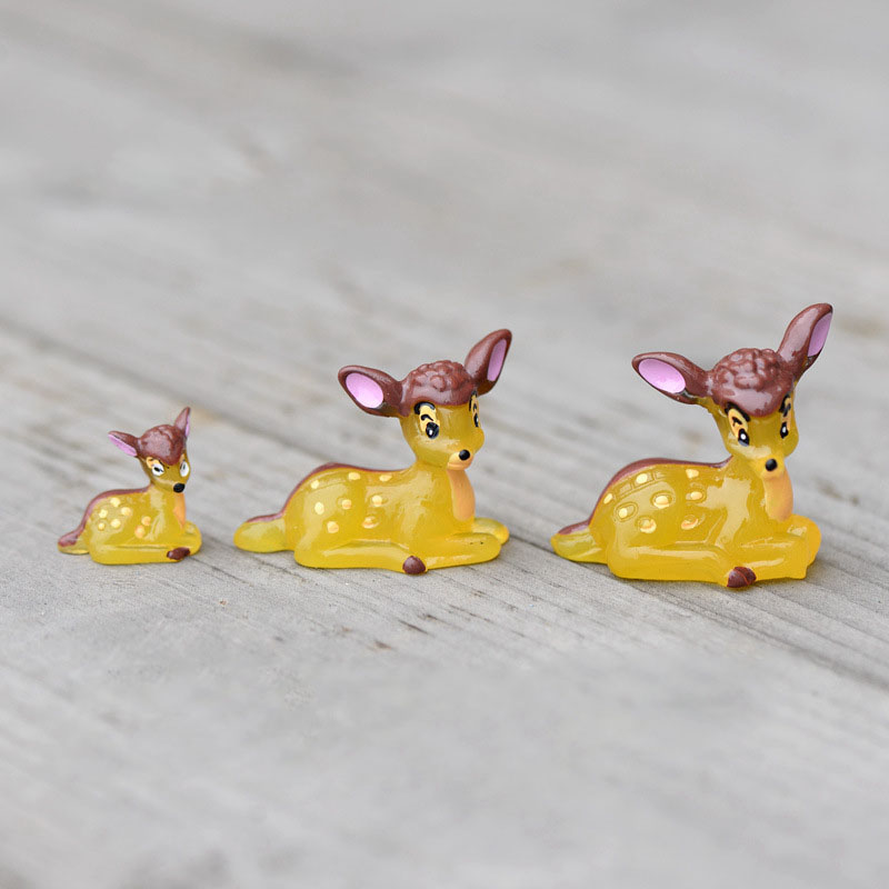 3pcs Mini Cute Happy Deer Family Resin Craft Home Artificial Animal Decoration Miniature Landscape Dollhouse Terrarium Ornament(China (Mainland))