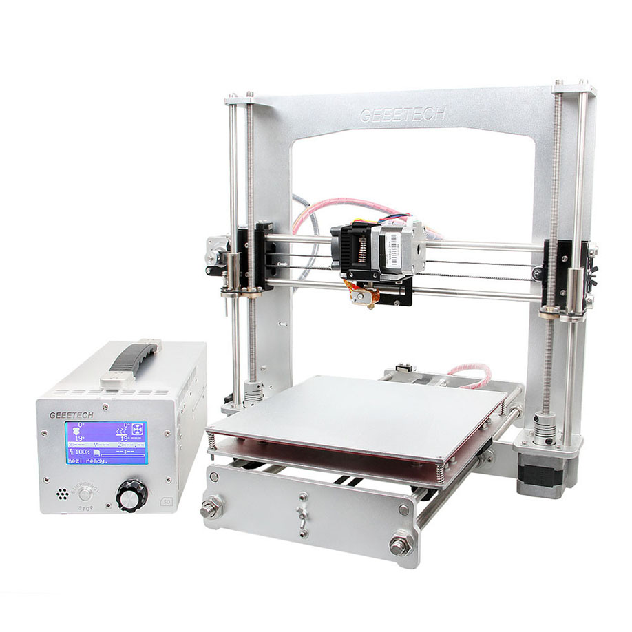 2016 Newest Geeetech I3 Aluminium Extrusion 3D Printer kit printer 3d printing Filament SD card Print 6 Materials Prusa Reprap