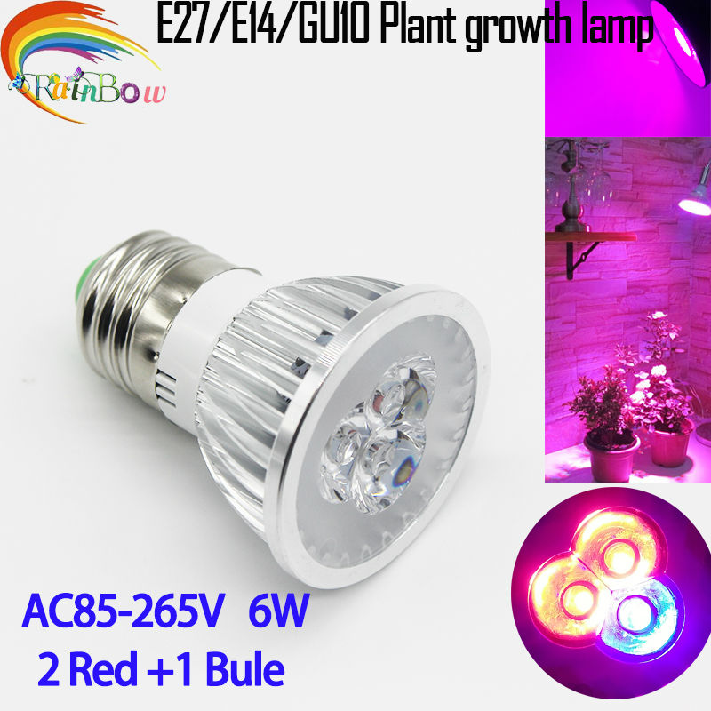 Full spectrum LED Grow lights 6W E27 LED Grow lamp bulb for Flower plant Hydroponics system AC 85V 110V 265V grow box 1Pcs/lots(China (Mainland))