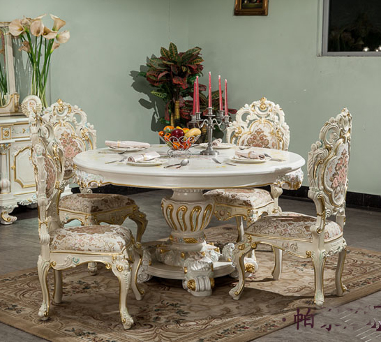 French Classical Furniture Wood Carving Table Italian Baroque Style