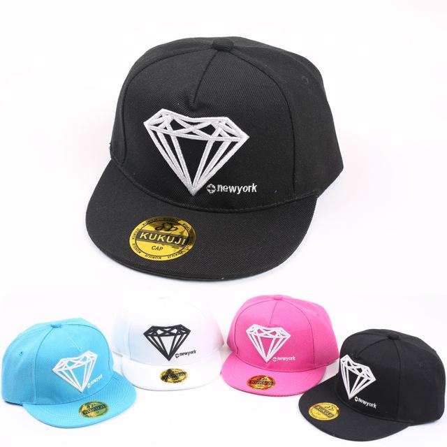 Лето снэпбэк кепка для дети бейсбол LK спорт регулируемый винно-красный алмаз шляпа дети