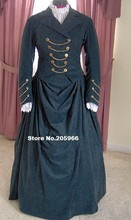 Custom Made -1800s Victorian Day Dress 1880s Tea Party  Bustle Gown  Riding Habit Equestrian with Jacket Dress &Gothic Bodice