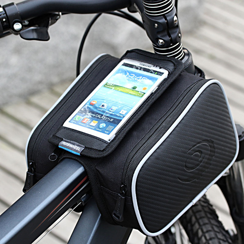 Cycling Bike Front Frame Bag Bicycle Tube Bicicleta Pannier 5.5 5.0 Inch Double Pouch Cellphone Mountain Bike phone Bags Bycycle(China (Mainland))