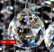 FREE  SHIPPING-- AAA Top Quality 30mm Clear Crystal Chandelier Ball Prism Garland Wedding Pendant Suncatcher(China (Mainland))