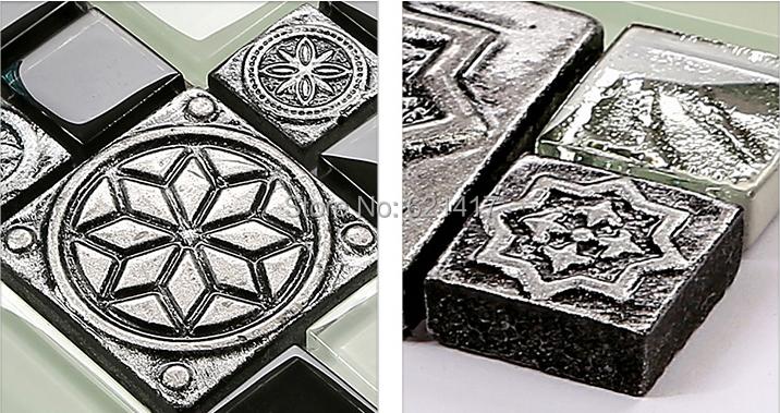 Aliexpress.com : Acquista Mosaico bianco e nero grigio Europa 3D ...