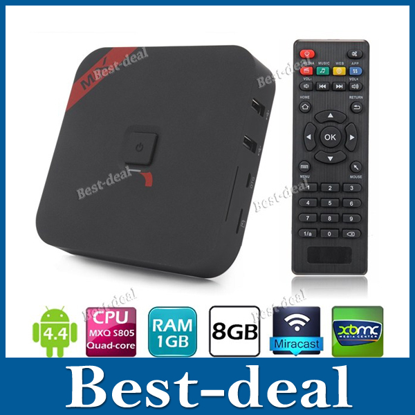 MXQ S805 Quad Core Android 4.4 TV Box 1GB/8GB 1080P H.265 HD Media Player Movies Live Video XBMC WiFi DLNA Miracast Smart TV BOX(China (Mainland))