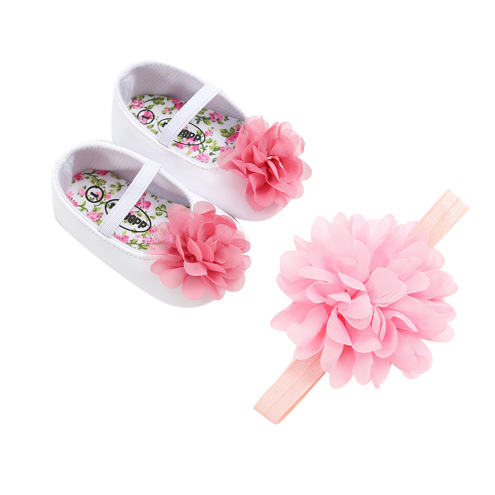 2018 2018 Baby Girl Princess Shoes Flower First Walkers Shoeshair