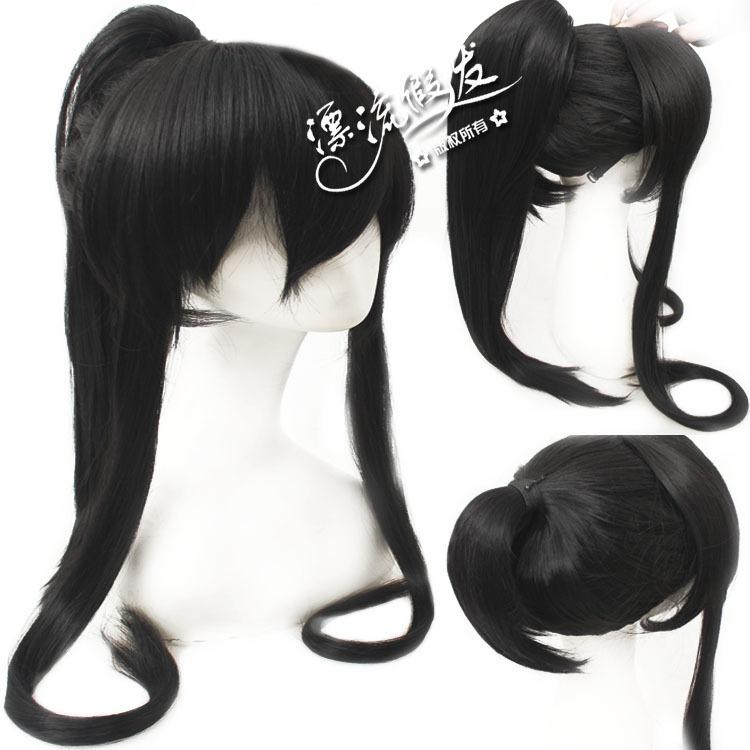 Гаджет  Cosplay wig black Horsetail costume male antique Rosa multiflora COS  None Изготовление под заказ