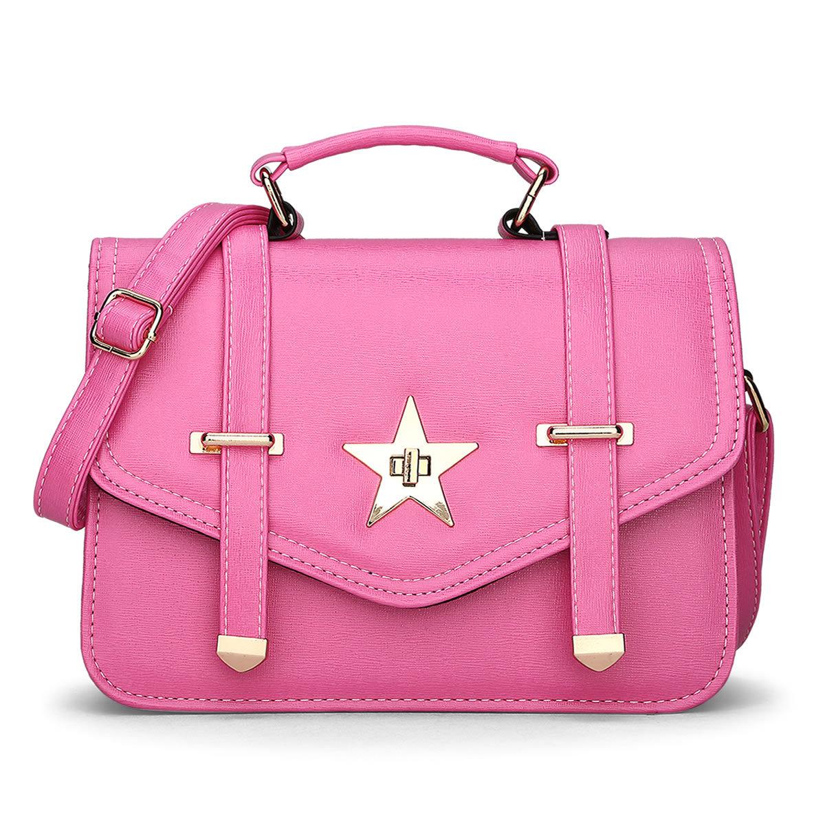 2016 New Design Summer Women Fashion Handbags Stars Tote Bag Small Party Single Shoulder Bag Leather Messenger Bags(China (Mainland))