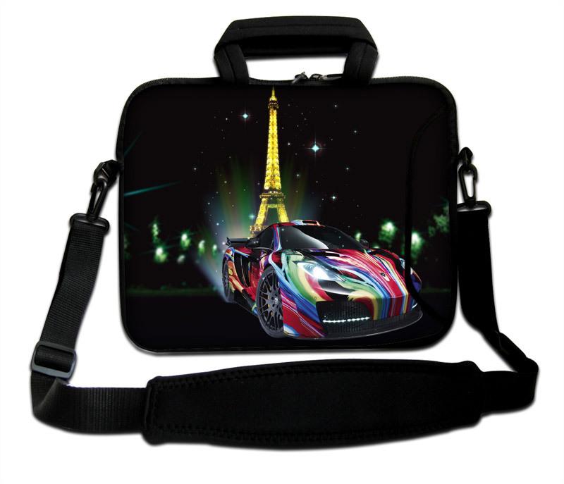 "Varicolored Automobile Type Neoprene Handle Sling Computer Sleeve10""13""14""15""17'' Laptop Carring Messenger Sash Bag For Intel(China (Mainland))"