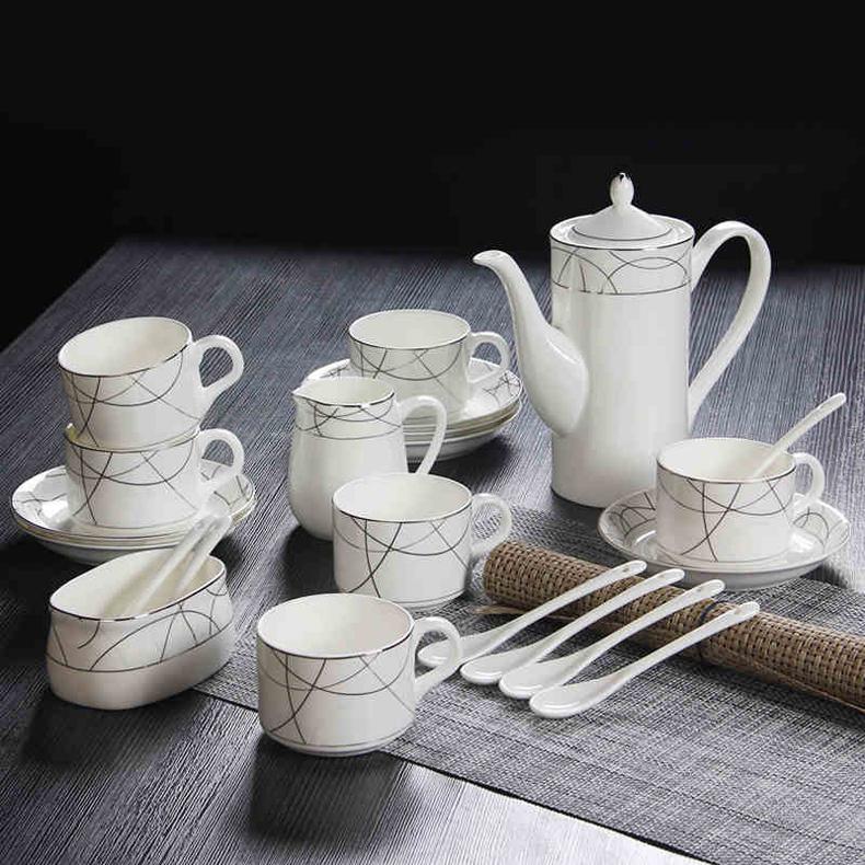Здесь можно купить  Novelty gift top grade ceramic coffee cup set with porcelain teapot spoon plate  Novelty gift top grade ceramic coffee cup set with porcelain teapot spoon plate  Дом и Сад