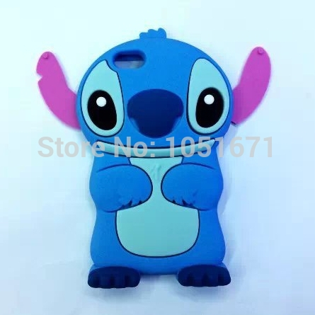 3D Cartoon Stitch Silicone Case Mobile Phone Cover For Apple iphone 6 plus 5.5'' Silicon lilo cover 1pcs(China (Mainland))