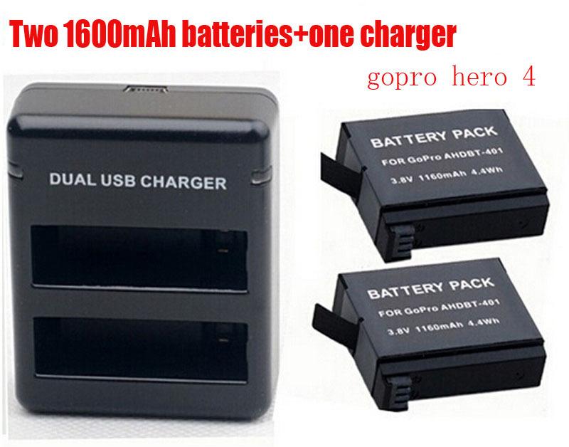 Зарядное устройство для фотокамеры Oem GoPro hero 4 2 1160mAh ahdbt/401 4 gopro battery and charger зарядное устройство для фотокамеры new ahdbt 301 302 2 usb gopro hero 4 3 3 ahdbt401c