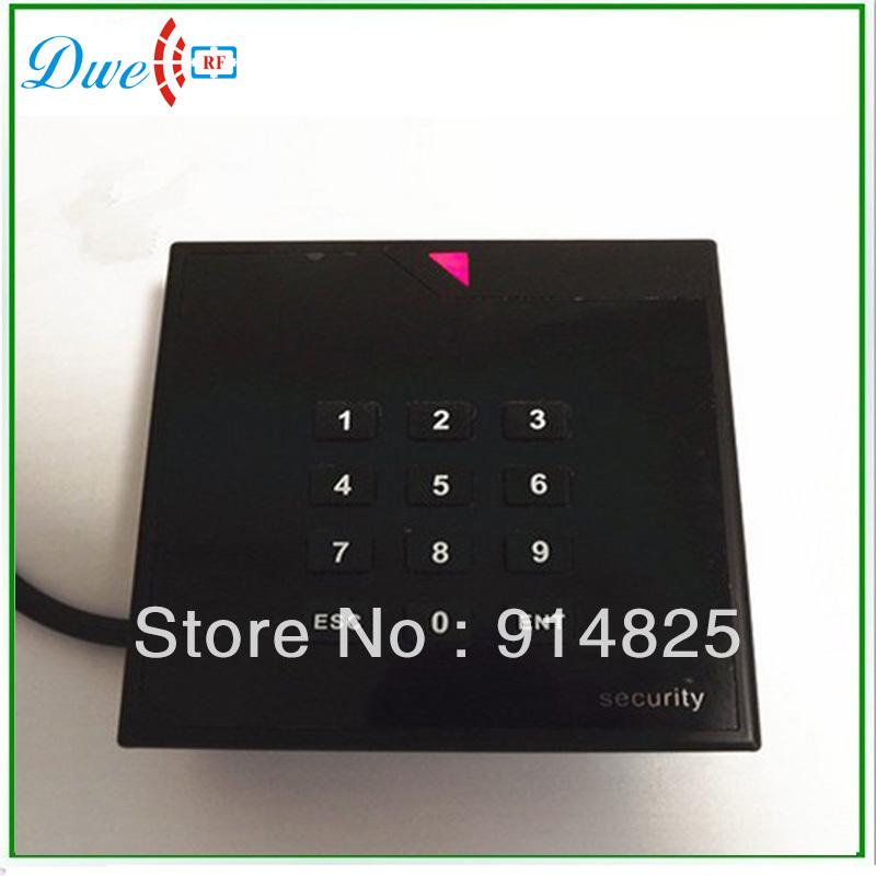 Promotion + 12V wholesale 125khz EM-ID rfid door access control keypad rfid proximity smart card reader(China (Mainland))