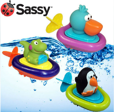 Sassy pull and go boat bath toy baby bath toys rope pulling water playing toys infant child swimming toys(China (Mainland))
