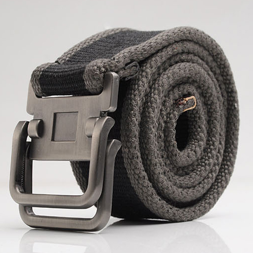Male canvas casual strap double-ring buckle men's strap thickening belt fahion belt.Free Shipping 480(China (Mainland))