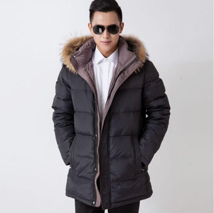 M L XL XXL XXXL 50# 52# 54# 56# 58# plus size men long thick jacket real fur collar coat leather edging BUST 150CM - Online Store 738425 store