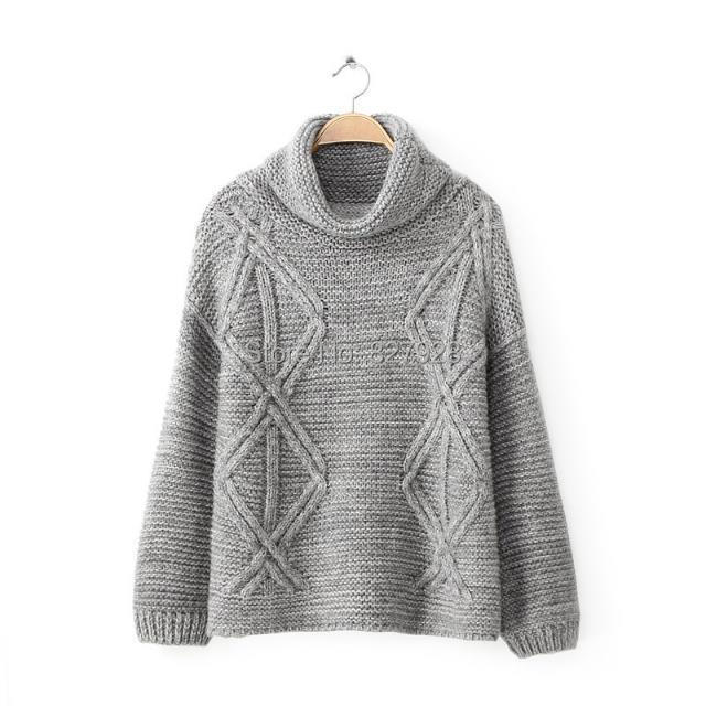 Cashmere Woman Pullovers Women 2015 Sweaters Long Sleeve Korean Design O Neck Knitted Plus Size Winter Solid Pull Femme - DreamDress store