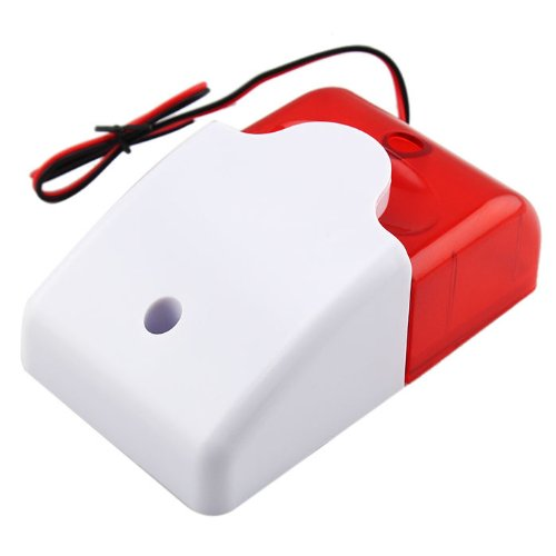 New 12V Wired Sound Alarm Strobe Flashing Light Siren Home Security System hot sell<br><br>Aliexpress