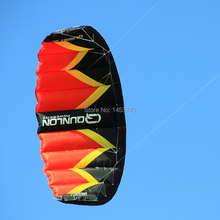 FREE SHIPPING Q3 3Sqm Power Dual Line Parachute Kite with 100kg x 20m x 2,2 Line Wrist Strap For Beginner Landboarding(China (Mainland))