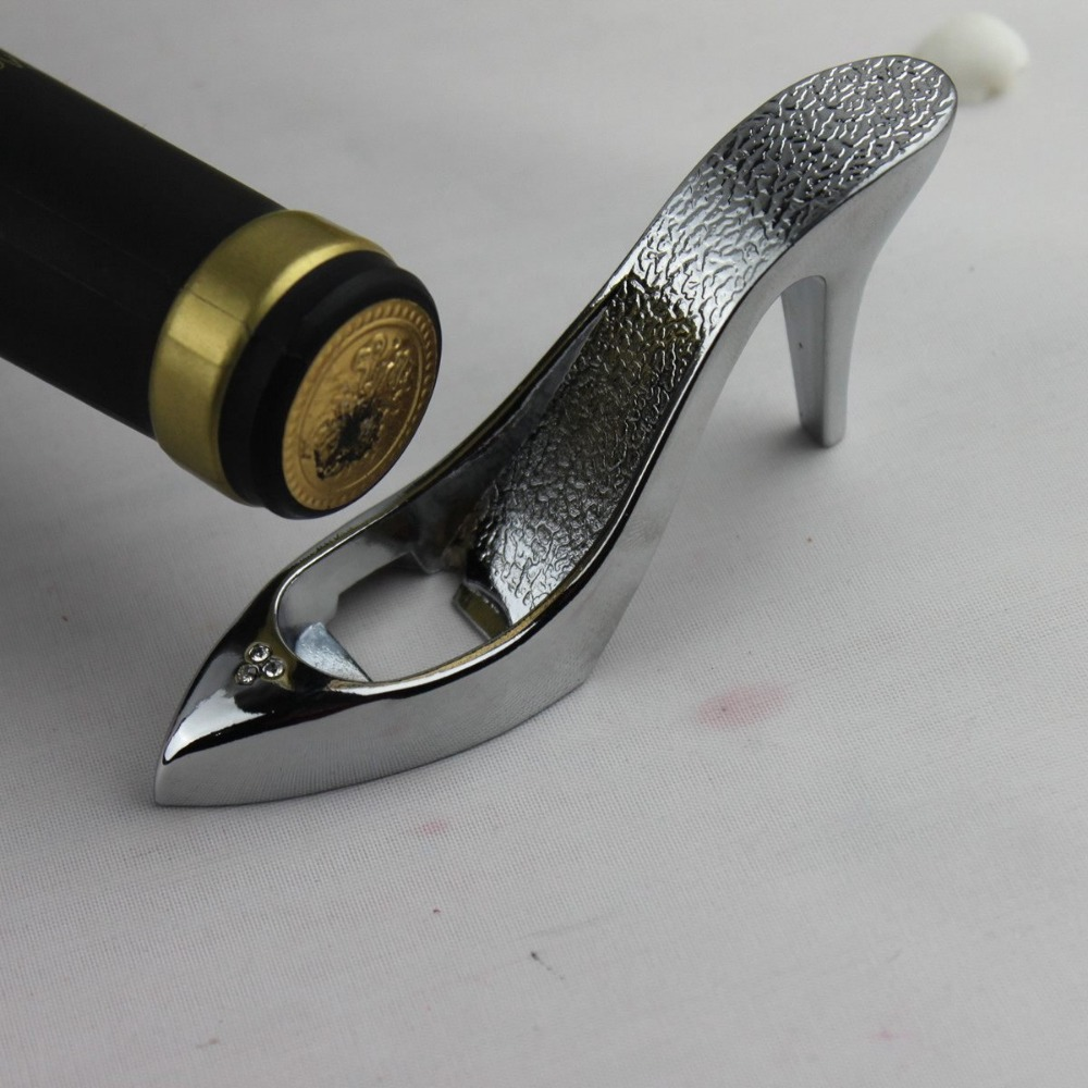 Creative Bride High Heel Shoe Design Wine Bottle Opener For Home Party Wedding Favors Gift Boxed(China (Mainland))