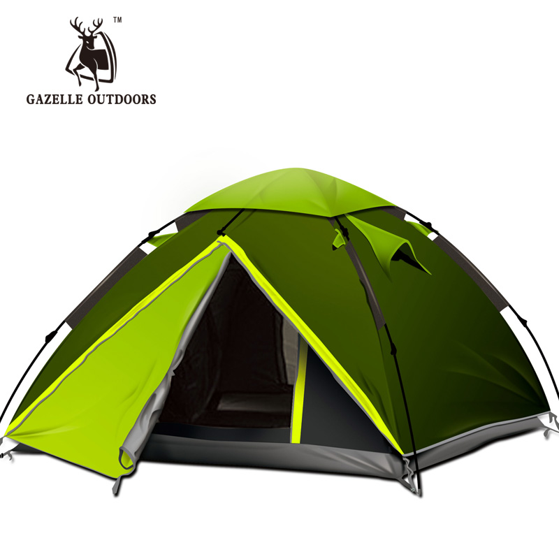 Фотография Upgrade Emblem antelope outdoor full coverage 2-3-4persons tent camping equipment hydraulic automatic speed open tent
