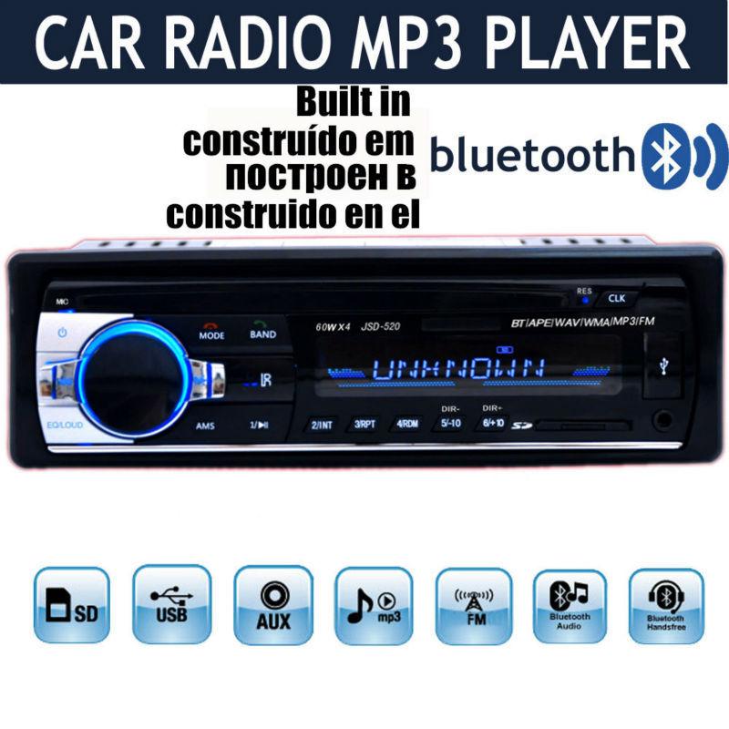 2015 New1 DIN 12V Car Stereo FM Radio MP3 Audio Player Built in Bl