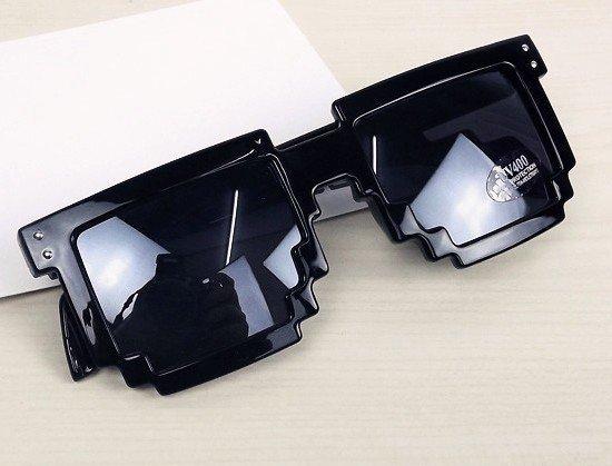 Retail Code Programmer Pixelated 8-Bit Fashion Sunglasses Gamer Geek Designer Women Sunglasses UV400