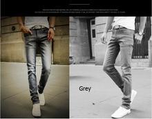 2016  straight  elastic waist skinny jeans men Mid waist  slim multicolor men's jean slim homme casual pants 28''-38''(China (Mainland))