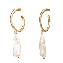 Neue Mode Kristall Perle Shell Schmuck Sets Für Frauen 2019 Haar Clips Perle Ohrringe Halsketten Erklärung Shell Schmuck NE + EA(China)