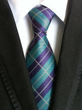 Mantieqingway 8 см Винтажный Мужской костюмный галстук высококлассная полиэфирная пряжа клетчатый узор шеи галстуки для мужчин деловой цветочный...(China)