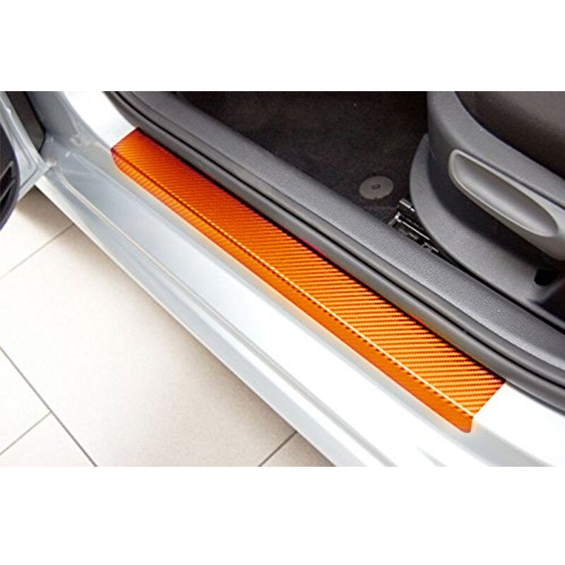 Carbon Fiber Door Sill Scuff Plates Sticker For Nissan X