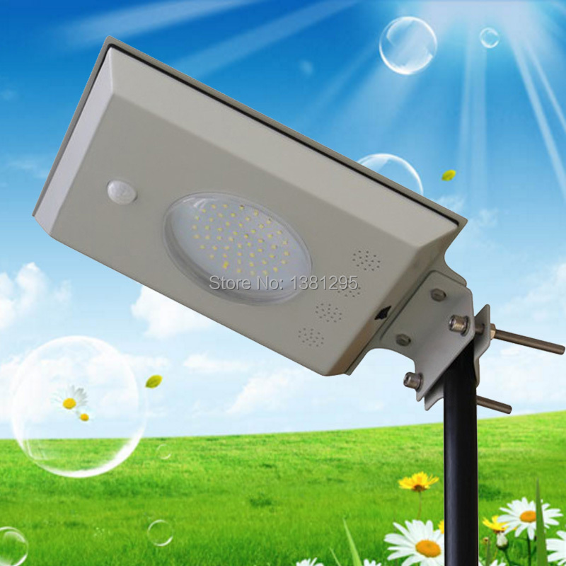 Integrated Infrared motion sensor Sun LED Solar Power Garden Street Light Lamp Pole Outdoor Road Path Security Light Luminaria(China (Mainland))