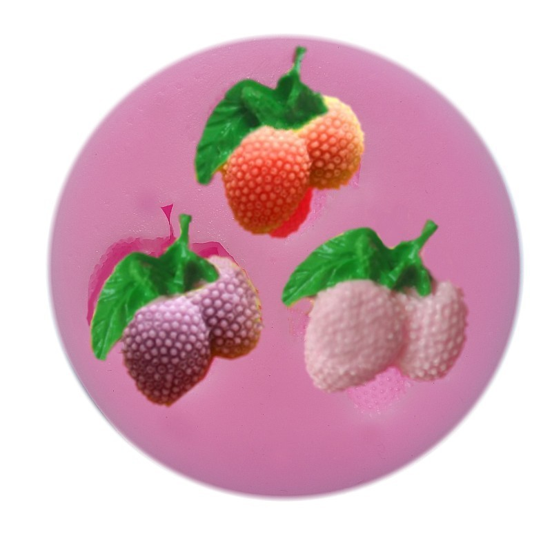New Arrival Cherry shaped 3D silicone cake fondant mold, cake decoration tools, soap, candle moulds 50-73(China (Mainland))