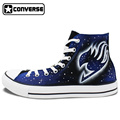Galaxy Anime Fairy Tail Design Hand Painted Shoes Man Woman Converse All Star High Top Skateboarding