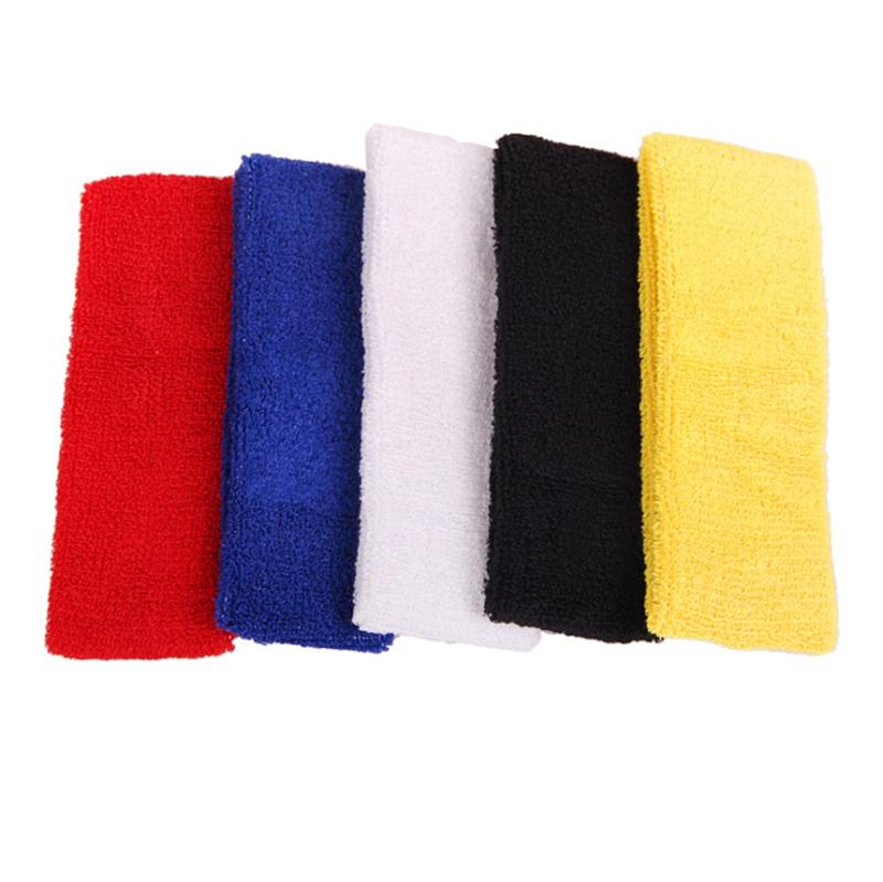 Outdoor Sports Ball Games Tennis Sweatbands Forehead Head Hair Sweat Band Elastic Terry Cloth Cotton GYM Yoga Fitness HeadBand(China (Mainland))