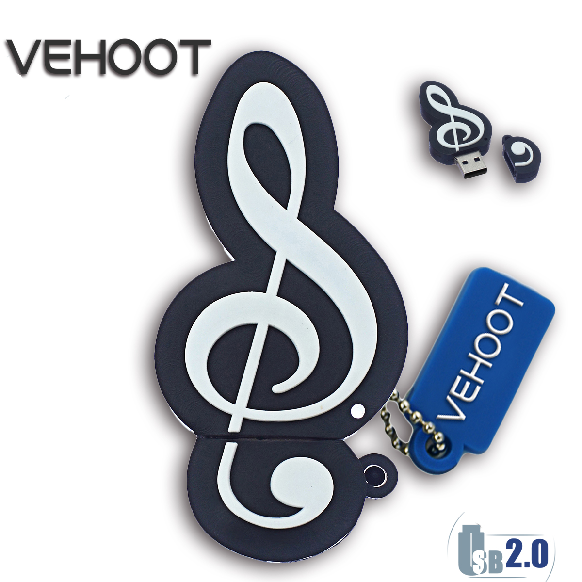 Musical Rhythm Note USB Flash Drive Cartoon Pendrive Memoria Stick Pen Drive 32GB 16GB 8GB 4GB U Disk USB 2.0 Stick VEHOOT 2016(China (Mainland))