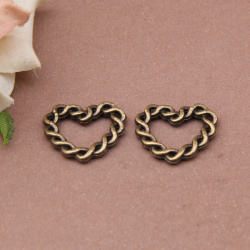 free shipping Zinc alloy Charms,Bronze Plated heart Charms,wholsale 20pcs/lot hollow Pendant 39x25mm J211(China (Mainland))