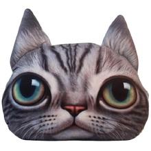 3D Cute Animal Cat Emoji Office Car Nap Pillow Cushion Sofa Decorative Cartoon Pillows Plush Toys For Birthday Gift(China (Mainland))