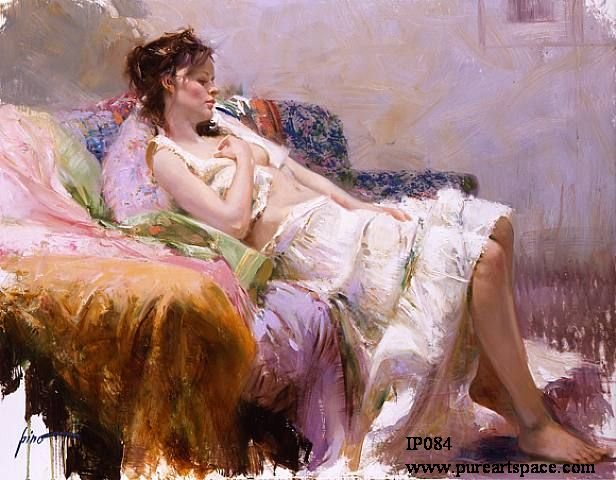 Famous pino art oil painting Sexy woman reproduction on sale of best quality -- Cheap Artwork unframed(China (Mainland))