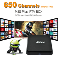 3 months qhdtv with M8S Plus arabic IPTV Box Amlogic S812 Quad Core Android5.1 2.4G&5G Wifi M8S+ 2GB/8GB tv box