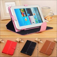 MOQ:1PCS Universal 7'' inch Android Tablet Leather Flip Case Cover 7inch PC Tablet Leather Case Free shipping