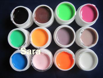 Sale 12pcs Pure colour Uv gel iin 8ml/pot code number 13-24  Free shipping